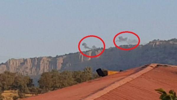 PKK mevzileri böyle vuruldu