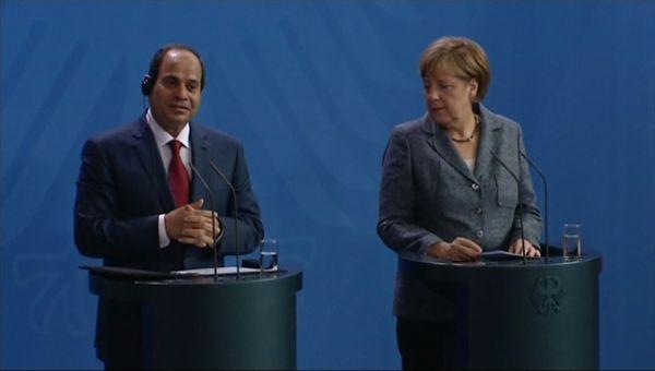 Sisi'ye Almanya'da şok !